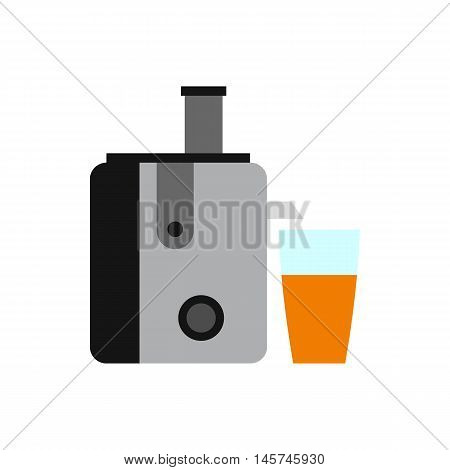 Juicer icon in flat style isolated on white background. Home appliances symbol vector illustration