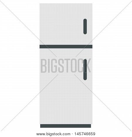 Refrigerator icon in flat style isolated on white background. Home appliances symbol vector illustration