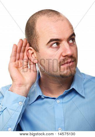 Man Listen Pose