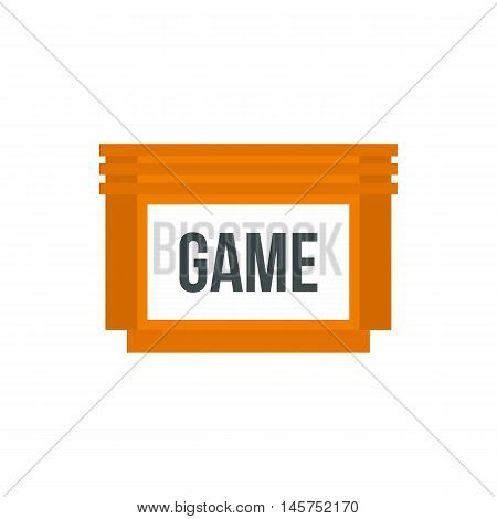 Games floppy disk icon in flat style isolated on white background. Play symbol vector illustration