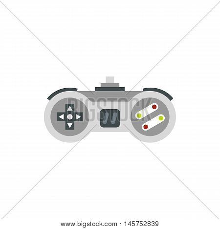 Joystick icon in flat style isolated on white background. Play symbol vector illustration
