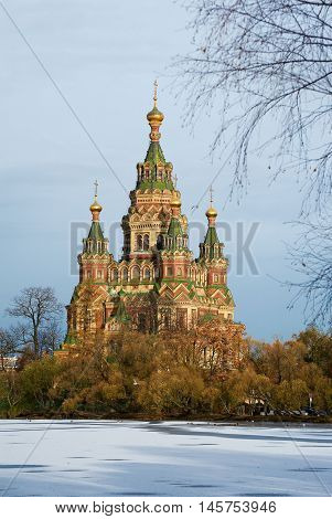Saint Peter and Paul Cathedral in Peterhof Sankt-Peterburg Russia