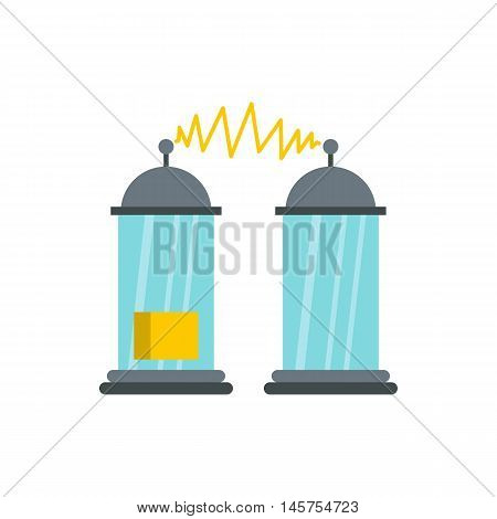 Electrical impulses icon in flat style isolated on white background. Innovation symbol vector illustration
