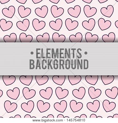 hearts elements background wallpaper cute fantasy fairytale female childhood dream icon. Colorful design. Vector illustration