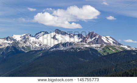 summit of Mount Whistler Black Tusk British Columbia upper spire