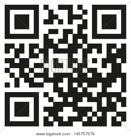 Qr code template to scan by smart phone. Vector illustration.