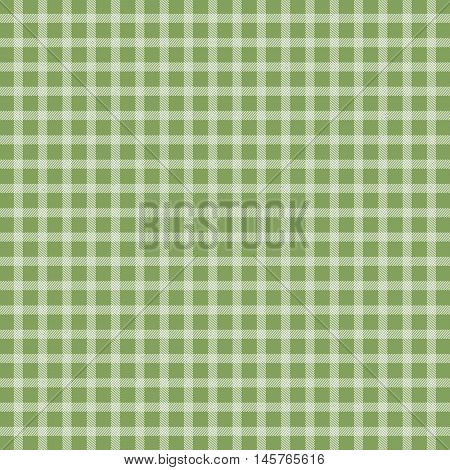 Illustration of green traditional picnic checkered tablecloth