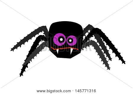 halloween spider vector creepy crawlies isolated web silhouette venom