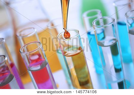 Testing dirty water in a laboratory