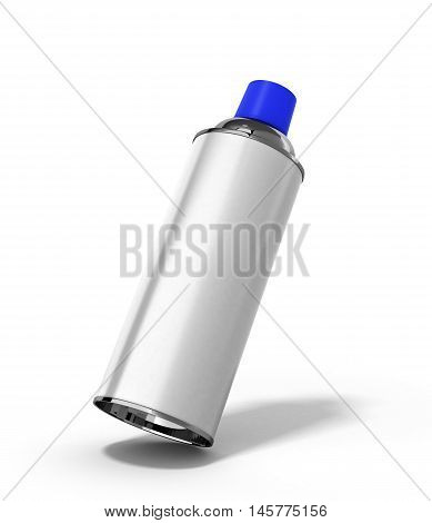 Bottle Spray Paint Or Automotive Grease White 3D Render On A White Background