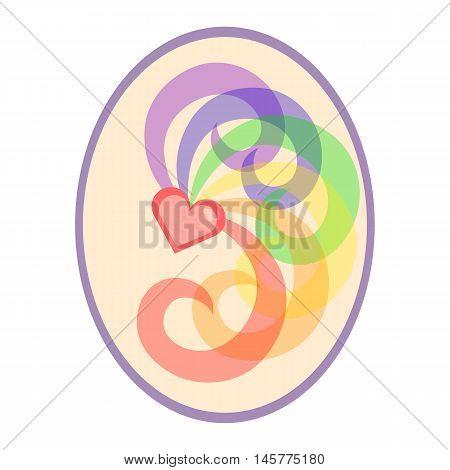 Pastel LGBT love symbol. Nice and simple illustration