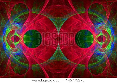 twin circles fractal back ground back drop