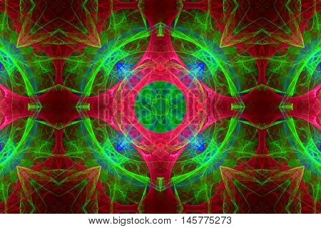 multi colored fractal pattern back ground back drop