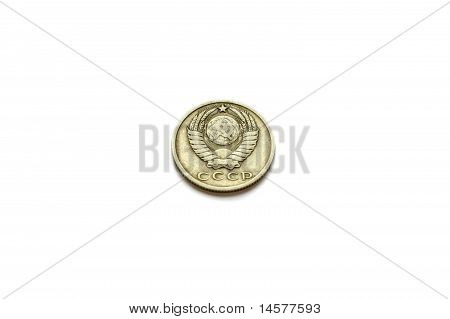 Tail Of 15 Copecks  Ussr Coin Issued In 1961 Isolated On White