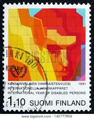 FINLAND - CIRCA 1981: a stamp printed in Finland dedicated to International Year of the Disabled circa 1981