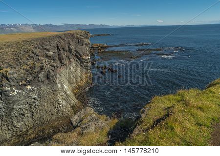 Beautiful Seashore On Iceland, Summer Time