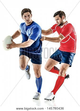 rugby player men isolated