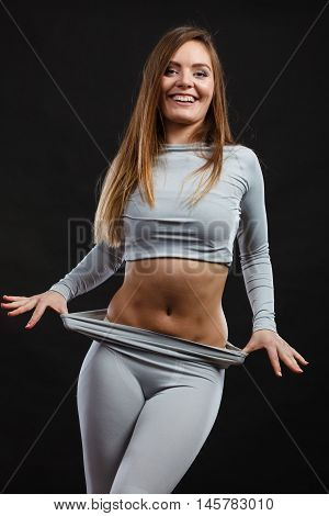 Sporty Woman Wearing Thermoactive Underwear.