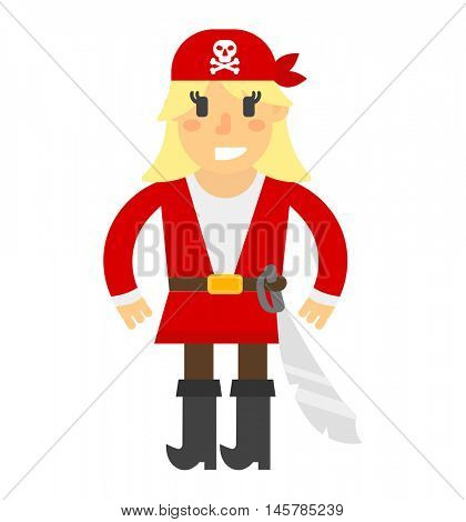 Cartoon pirate vector character