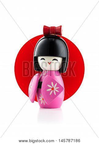Japanese Kokeshi Doll Isolated