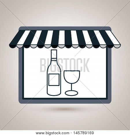 store market shop wine vector illustration eps10
