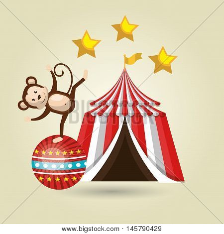 big top circus icon vector illustration eps10 eps 10