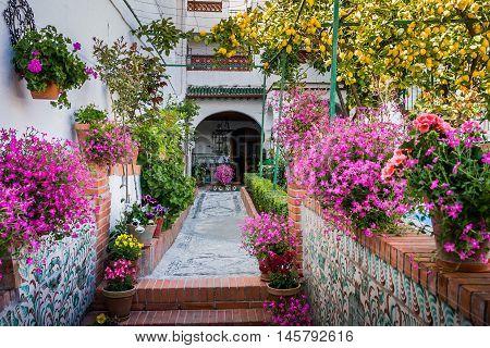 Granada Spain - March 23 2008 - Albaicin Neighborhood in Granada Spain