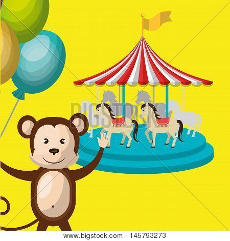 circus toys ballon icon vector illustration eps10 eps 10