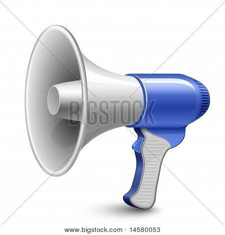 Megaphone. Loudspeaker