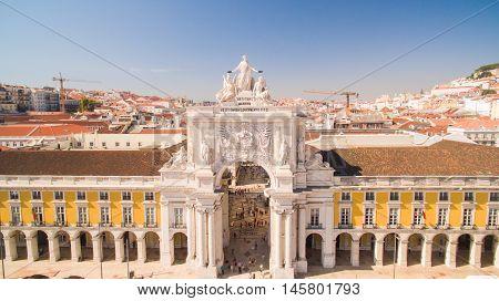 Commerce Square Praca de comercio Lisbon Portugal