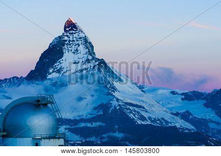 A view on the Cervin (Matterhorn) in Switzerland