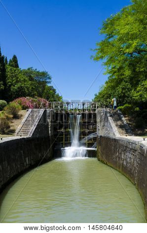 The Lalande sluice near Carcassonne in France