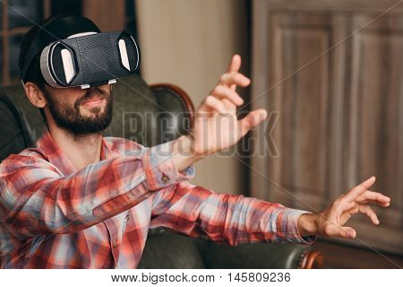 Innovation Virtual Reality Entertainment Cyberspace Technology Gaming Concept