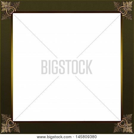 Exquisite Gold And Copper Picture Or Border Frame