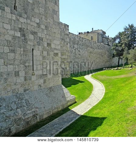 The Walls of the Old City in Jerusalem