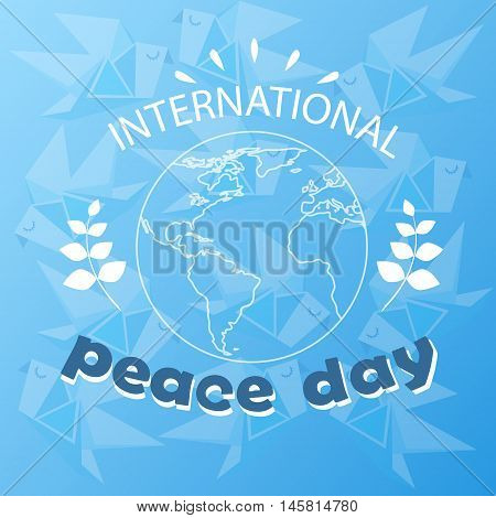 World Peace Day Earth International Holiday Poster Sketch Vector Illustration