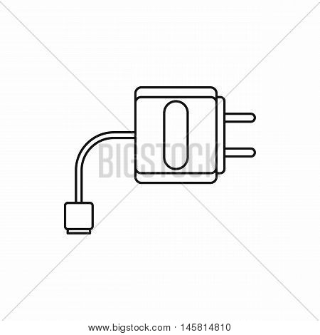 Electronic cigarette USB cable charge icon in outline style isolated on white background vector illustration
