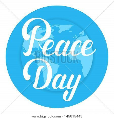 World Peace Day Earth International Holiday Poster Flat Vector Illustration