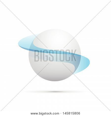 Vector abstract shape of a sphere, white background