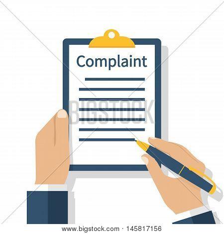 Complaint Concept Vector
