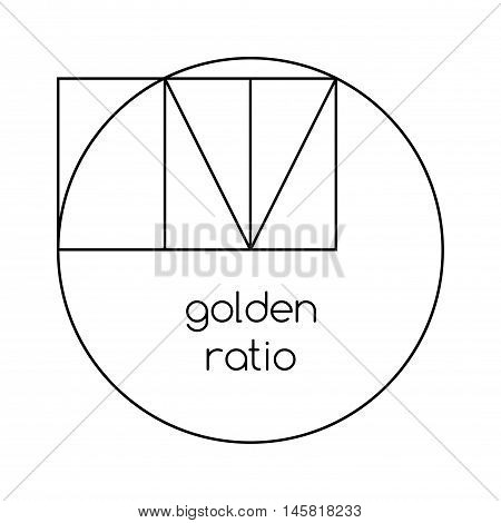Golden Ratio Line Graphic On White Background