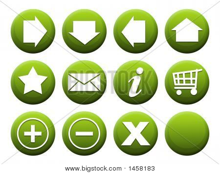 Button Set Green