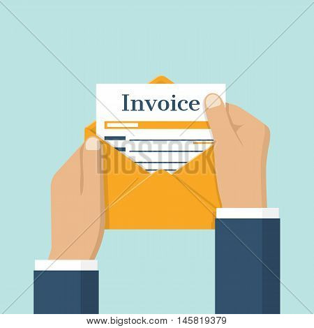 Invoice Envelope In Hand