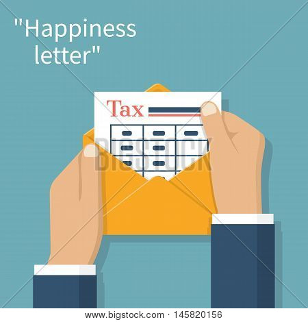 Envelope With Form Payment Taxes