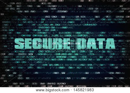 Text Secure Data written over unreadable encrypted code