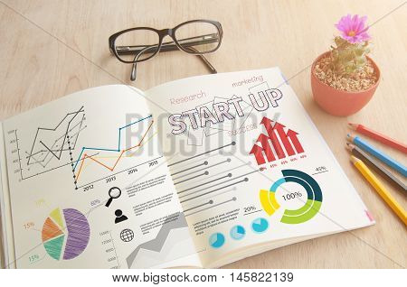 Business book with write Notebook word