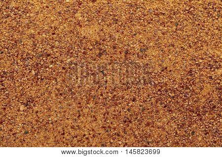 Organic powder of Indian Jujube (Ziziphus mauritiana). Macro close up background texture. Top view.