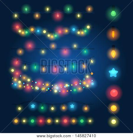 String Of Lights Illustration : String Lights Images, Stock Photos & Illustrations Bigstock
