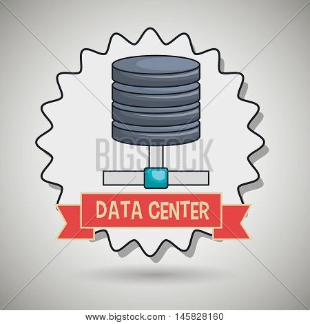 data center base icon vector illustration eps10