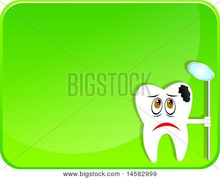Sad teeth with Cavity